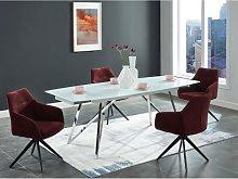 Mesa de comedor extensible KAMIRA - 6 a 8