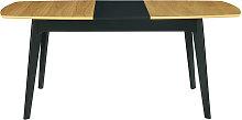 Mesa de comedor extensible mader a ynegro L140-180