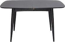 Mesa de comedor extensible madera negra L130-160
