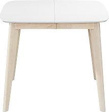 Mesa de comedor extensible nórdica blanca y