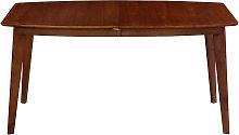 Mesa de comedor extensible nórdica nogal L150-200