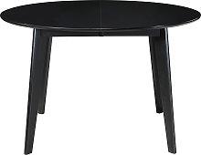 Mesa de comedor extensible redonda negra L120-150