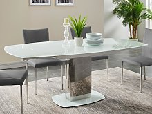 Mesa de comedor extensible TALICIA - Cristal
