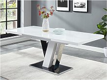 Mesa de comedor extensible WESTON - MDF y cristal