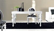Mesa de comedor extensible y con tapa grabada ref