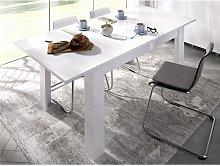 Mesa de comedor extensibles BALKIS - Color: blanco