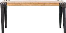 Mesa de comedor industrial acero y madera L160