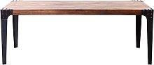Mesa de comedor industrial acero y madera L200