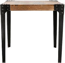 Mesa de comedor industrial acero y madera L80