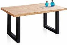 Mesa de comedor LoftRoble salvaje-negro160x100