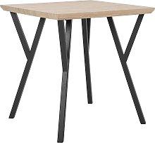 Mesa de comedor madera clara/negro 70x70 cm BRAVO