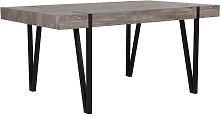 Mesa de comedor marrón oscuro/negro 180x90 cm