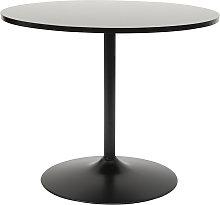 Mesa de comedor moderna redonda negra D90 CALISTA
