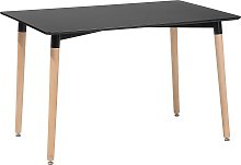 Mesa de comedor negra 120 x 80 cm FLY
