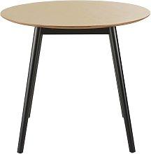 Mesa de comedor redonda y bicolor para 4 personas,