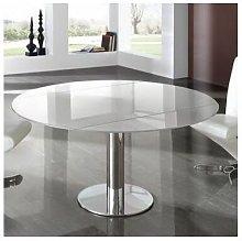 Mesa de cristal extensible en anchura para comedor