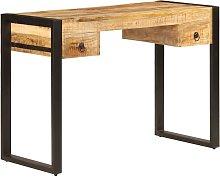 Mesa de escritorio 2 cajones 110x50x77 cm madera