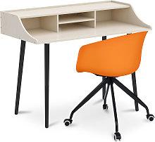 Mesa de escritorio de madera diseño escandinava