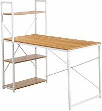 Mesa de escritorio metálica con estantería Gad