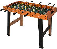 Mesa de futbolín MDF madera y negro Homcom