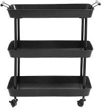 Mesa de hierro negro Olmiccia con ruedas