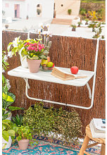 Mesa de Jardín Colgante y Plegable Janti Blanco
