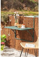 Mesa de Jardín Colgante y Plegable Janti Verde