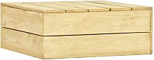 Mesa de jardín de madera de pino impregnada