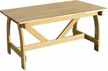Mesa de jardin de madera de pino impregnada FSC