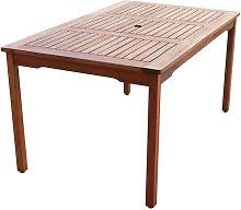 Mesa de jardín Nápoles de madera Chillvert