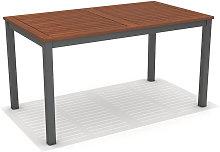 Mesa de jardín Nápoles madera y aluminio