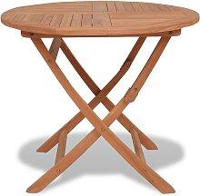 Mesa de jardín plegable madera de teca maciza
