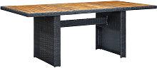 Mesa de jardin ratan sintetico madera maciza