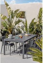 Mesa de Jardín Rectangular en Aluminio (210x100