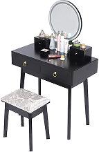 Mesa de Maquillaje, tocador con 4 cajones, espejo