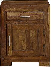 Mesa de noche COPELIA - 1 puerto y 1 espejo -