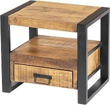 Mesa de noche HARLEM - 1 cajón y 1 estante -