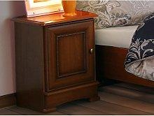 Mesa de noche LAUREL - 1 puerta - Color cerezo