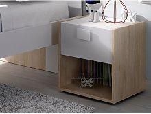 Mesa de noche SONIA - 1 cajón y 1 estante -