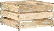 Mesa de palés para jardín de madera de pino