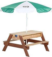 Mesa de picnic arena/agua con sombrilla Nick -