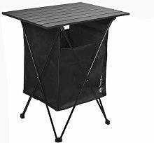 Mesa de picnic plegable al aire libre con bolsillo