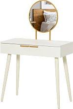 Mesa de tocador con espejo y cajones blanca HomCom