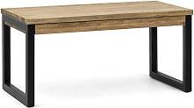 Mesa Elevable iCub Strong ECO 100x50x52cm Negra en