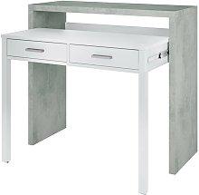 Mesa escritorio extensible 2 cajones tocador
