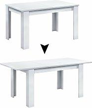 Mesa extensible de 140 a 190 cm Blanco medida