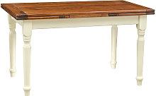 Mesa extensible de estilo Country de madera maciza