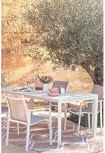 Mesa Extensible de Jardín Rectangular en Aluminio