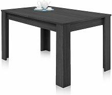 Mesa extensible de salon comedor color gris ceniza