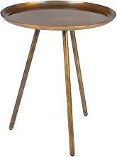Mesa lateral con acabado de cobre Frost